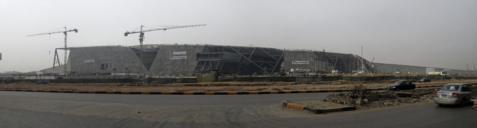 The Grand Egyptian Museum (GEM) under construction.  Photo by Tom Sawyer. CC BY-ND 2.0.