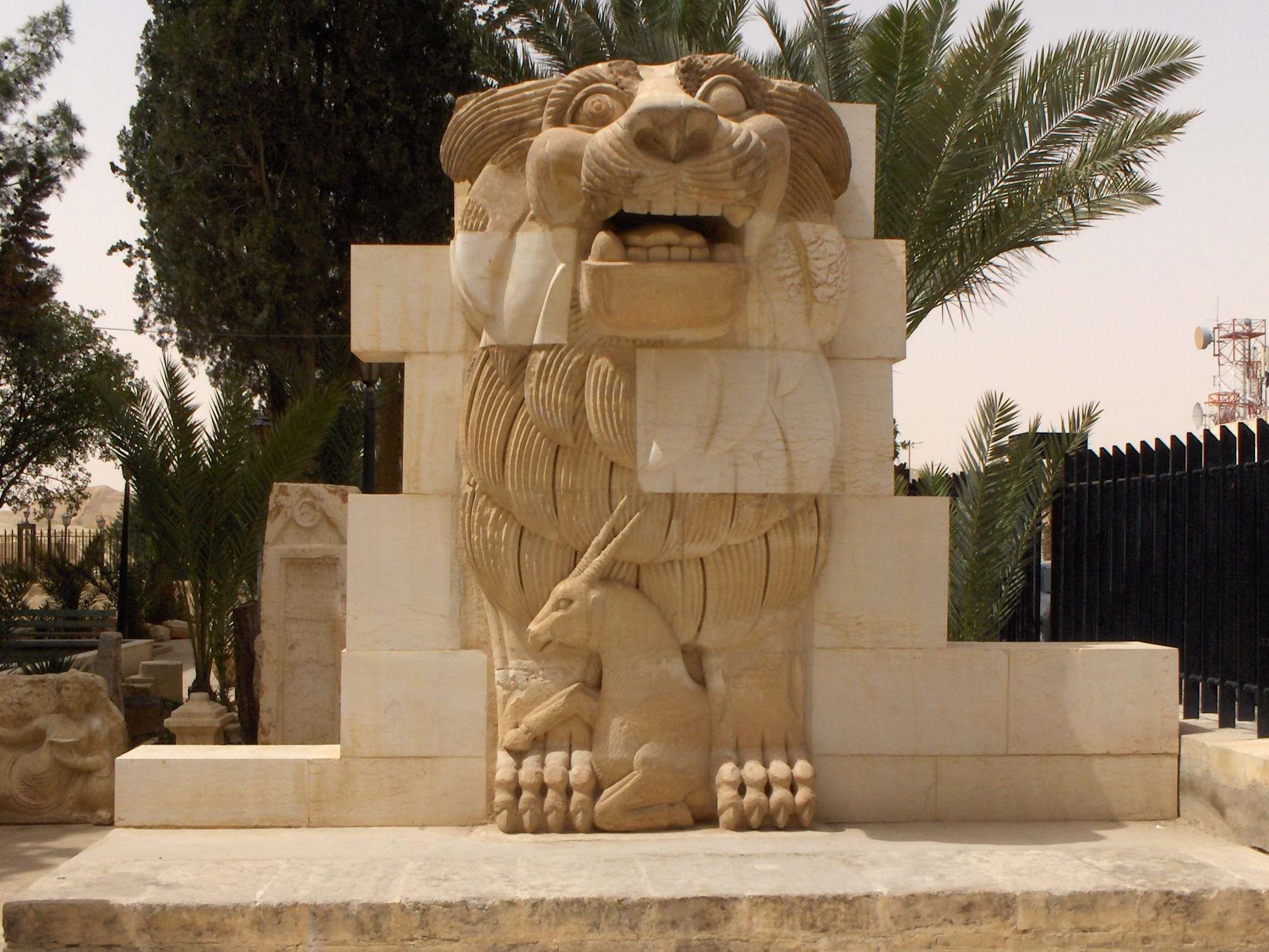 Lion of Al-Law in the museum garden. Photo by Mappo (Marco Paolo Giuliano). Public domain.